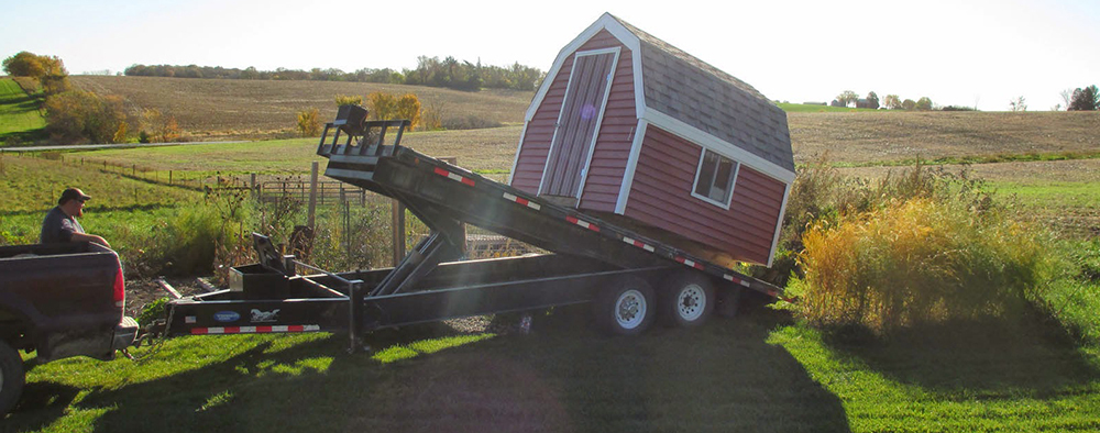 Shed setup and delivery in St Augustine, FL